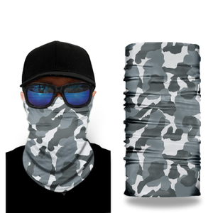 OEM design Custom Cycling Neck Warmer Face Mask Face Shield Skull Polyester Bandana